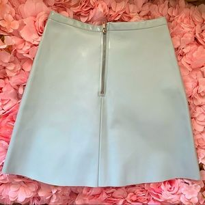 AMERICAN APPAREL Zip Blue A-Line Vinyl Mini Skirt